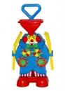 Sandmühle Clown mit Schaufel und Rechen