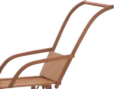 Schiebelehne aus Holz für Hörnerrodel, Davos Holzschlitten