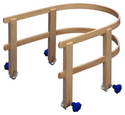 Schlittenlehne aus Holz für Hörnerrodel, Davos Holzschlitten