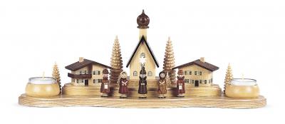 Müller-Kleinkunst aus dem Erzgebirge® seit 1899 Kerzenhalter Alpendorf, groß