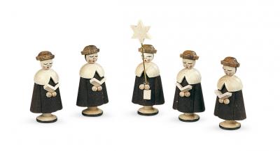 Müller-Kleinkunst aus dem Erzgebirge® seit 1899 Kurrende, 5 Figuren, klein