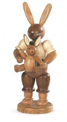 Müller-Kleinkunst aus dem Erzgebirge® seit 1899 Hasenvater mit Kind