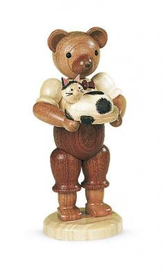 Müller-Kleinkunst aus dem Erzgebirge® seit 1899 Bär mit Katze