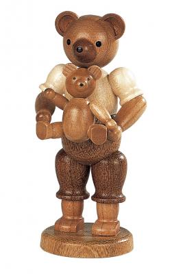 Müller-Kleinkunst aus dem Erzgebirge® seit 1899 Bärenvater mit Kind