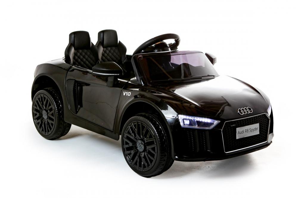 Batteriebetriebenes Elektrofahrzeug 12V Lizenziertes Audi R8 Spyder, Schwarz