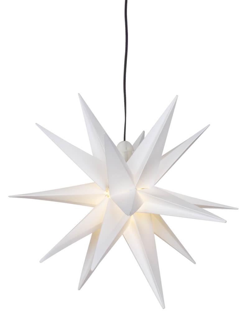 DecoTrend GmbH Weihnachtsstern, ww LEDs, Ø 25 cm, weiß