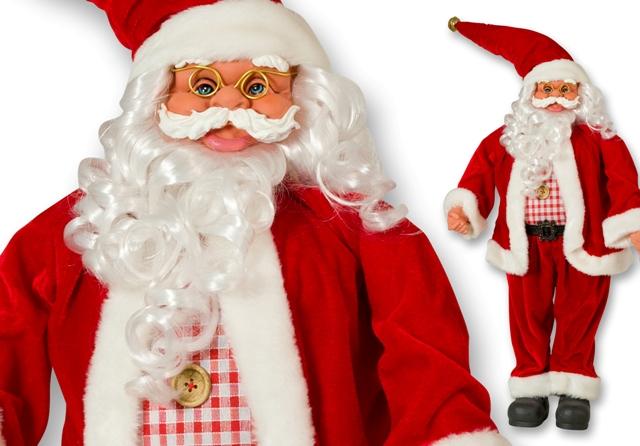 Weihnachtsmann Santaclaus Nikolaus 66 cm Polyester + Kunststoff