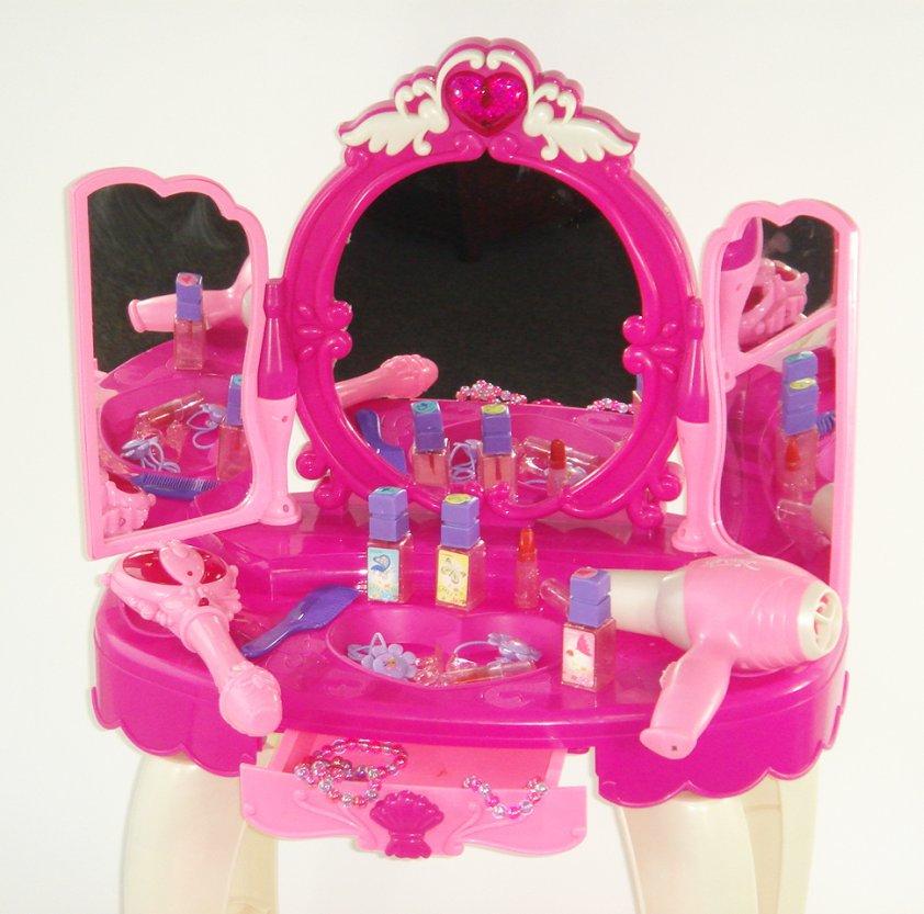 schminktisch frisiertisch mit spiegel musik licht und fernbedienung www versand. Black Bedroom Furniture Sets. Home Design Ideas