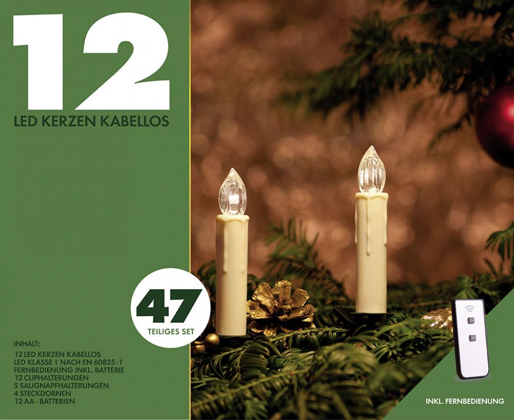 led weihnachts kerzen 12 tlg basis set kabellos www versand. Black Bedroom Furniture Sets. Home Design Ideas