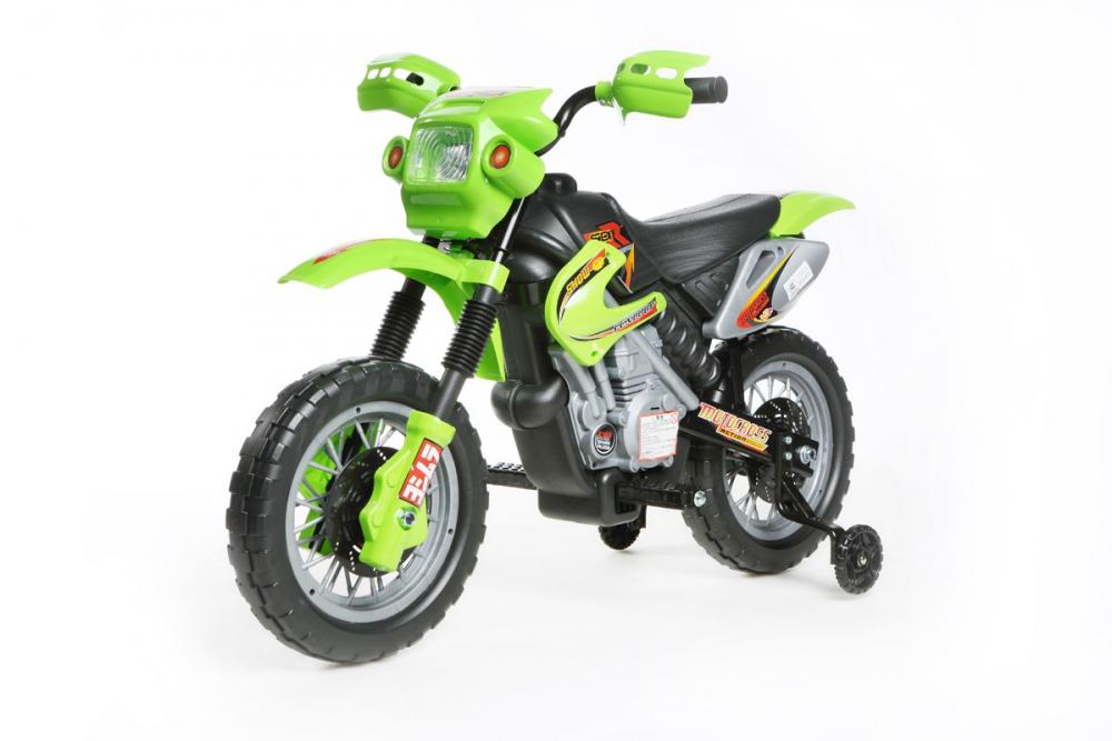 kinder elektrofahrzeug mini motocross 6v motorrad gr n. Black Bedroom Furniture Sets. Home Design Ideas
