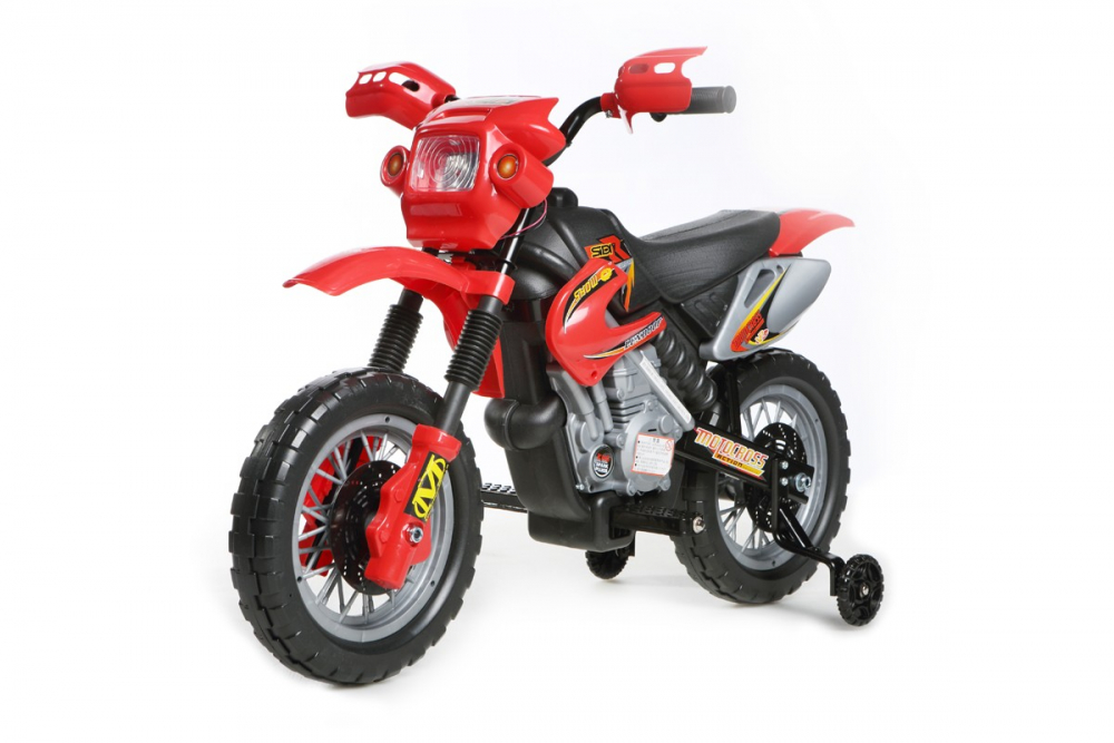 kinder elektrofahrzeug mini motocross 6v rot www. Black Bedroom Furniture Sets. Home Design Ideas