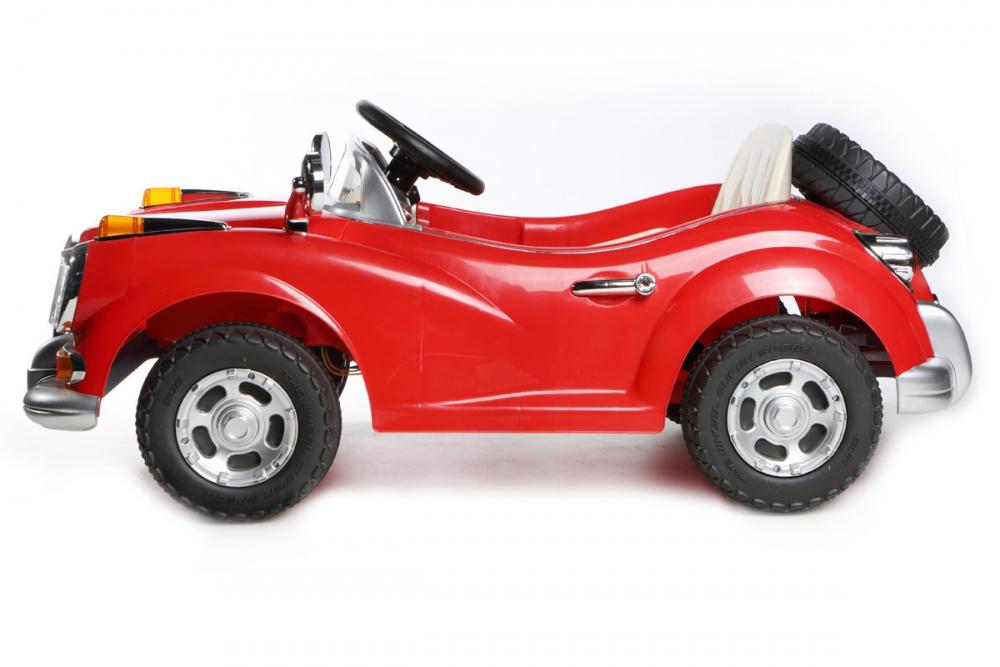 kinder elektrofahrzeug vintage roadster 12v rot www. Black Bedroom Furniture Sets. Home Design Ideas