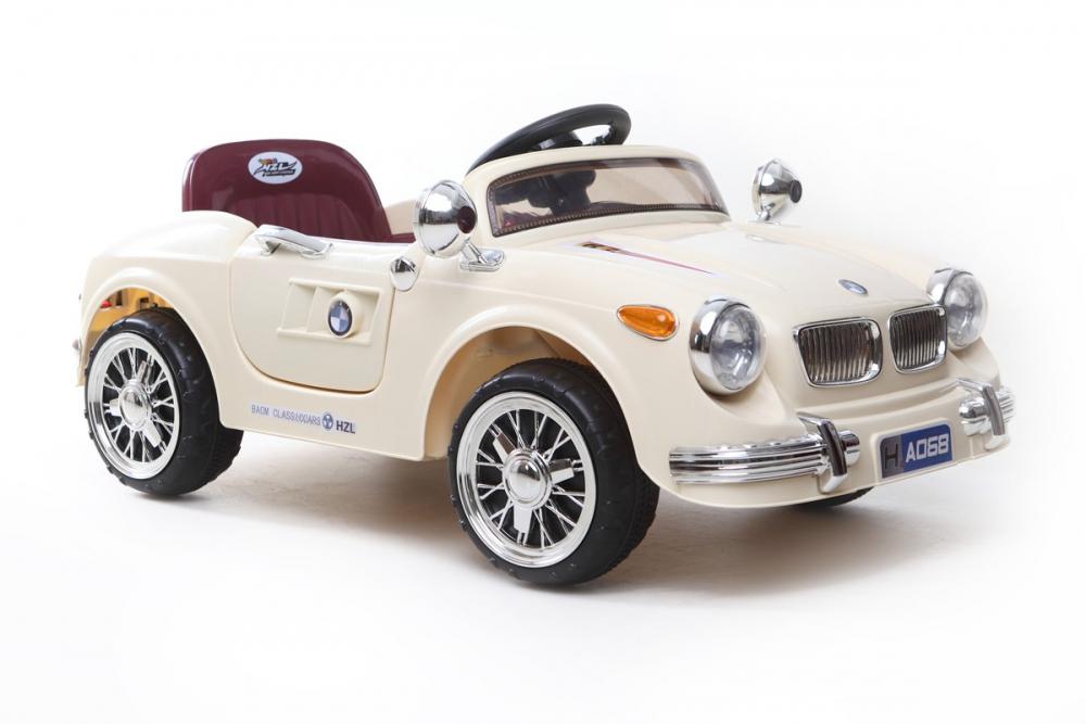 kinder elektrofahrzeug classic roadster 12v creme www. Black Bedroom Furniture Sets. Home Design Ideas