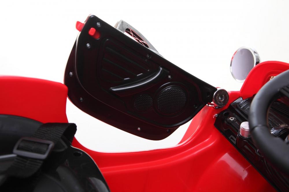 kinder elektrofahrzeug classic roadster 12v rot www. Black Bedroom Furniture Sets. Home Design Ideas