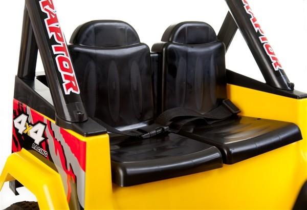 kinder elektrofahrzeug 4x4 gelb 12v zweisitzer www. Black Bedroom Furniture Sets. Home Design Ideas