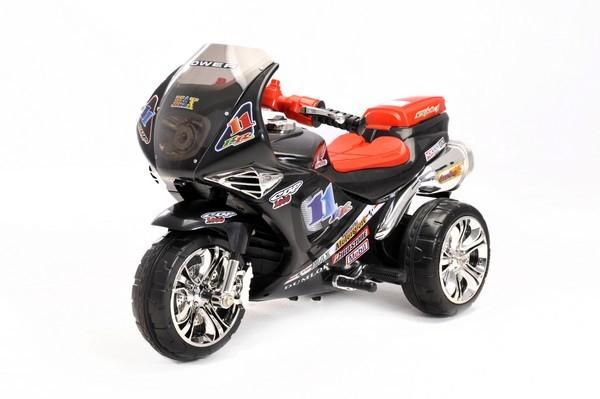 kinder elektrofahrzeug motorrad sport schwarz 6v www. Black Bedroom Furniture Sets. Home Design Ideas