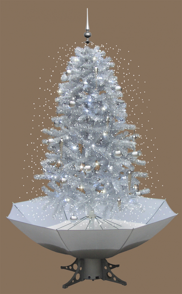 weihnachtsbaum schneefall mit led licht musik 2 m weiss ebay. Black Bedroom Furniture Sets. Home Design Ideas
