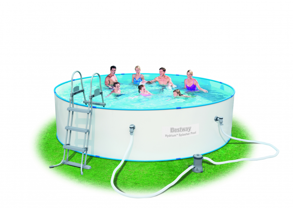 Bestway 56386 hydrium splasher stahlwandpool set for Stahlwandpool rund set