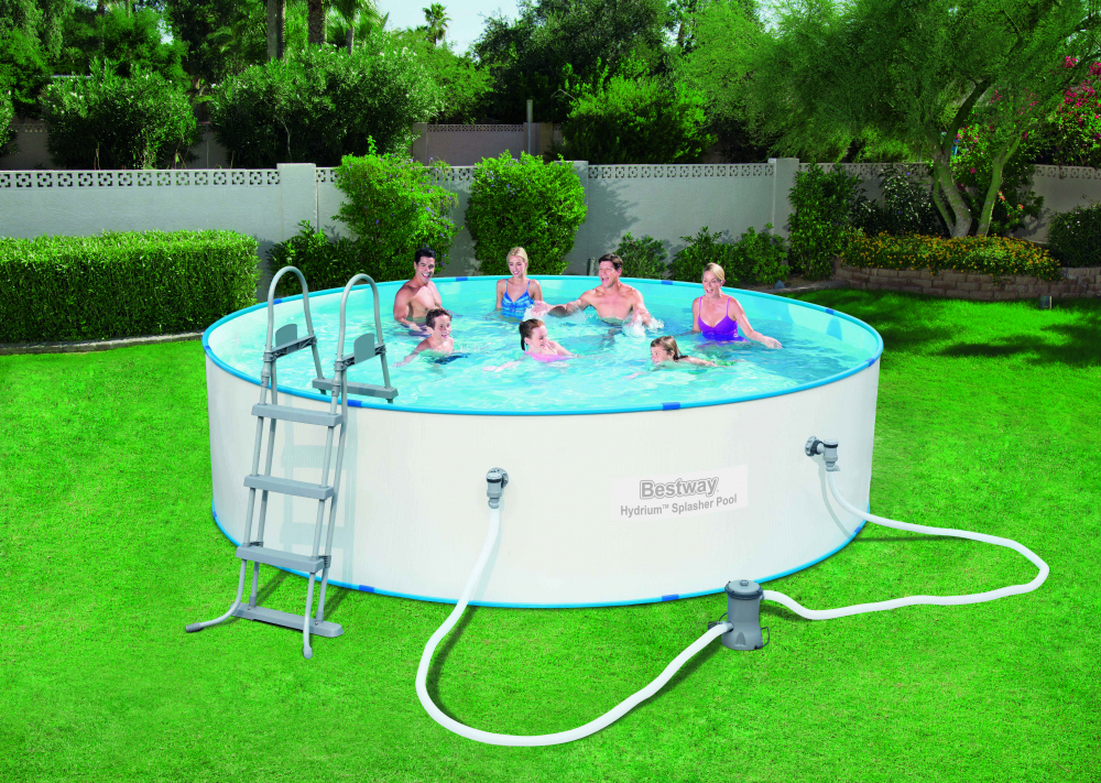 Bestway 56386 hydrium splasher stahlwandpool set www for Stahlwandpool set