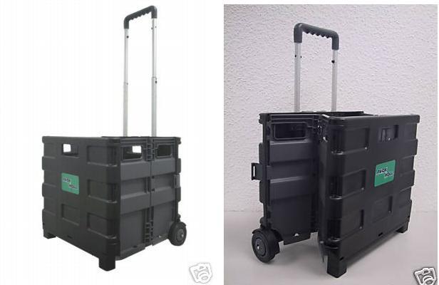 Einkaufskorb Einkaufstrolley Einkaufskiste Box fahrbar 35 x 32 x 30 cm