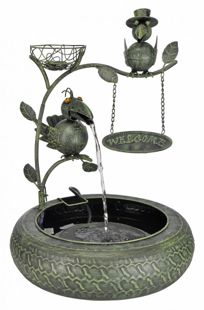 Fontane di metallo fontane da giardino welcome con gioco d - Fontane da giardino ebay ...