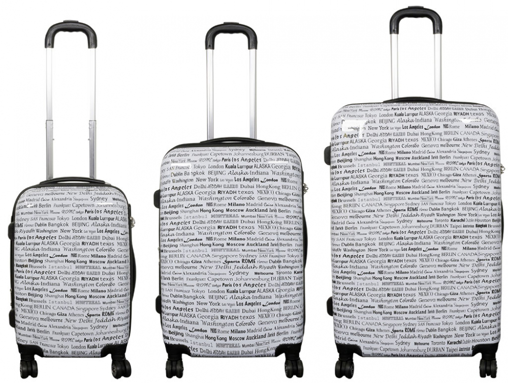 3 tlg koffer set trolley set reisekoffer polycarbonat www versand. Black Bedroom Furniture Sets. Home Design Ideas