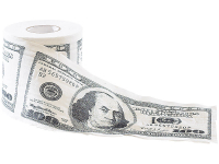 WC-Papier Toilettenpapier Klopapier 100 DOLLAR, Gag-Geschenk