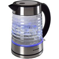 Syntrox 1,7 Liter Edelstahl schnurlos Glas Wasserkocher Agua mit blauem LED Licht 360