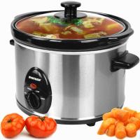 Syntrox 2,5 Liter Edelstahl Slow Cooker mit Warmhaltefunktion
