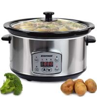 Syntrox Digitaler Slow Cooker 4,5 Liter mit Timer