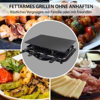 Syntrox Design Raclette Paris mit Glas-Keramik Grillplatte für 8 Personen Grill