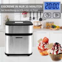 Syntrox Eismaschine Edelstahl Digital mit Timer Frozen Joghurt Maschine