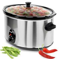 Syntrox 8,0 Liter Edelstahl Slow Cooker mit Warmhaltefunktion