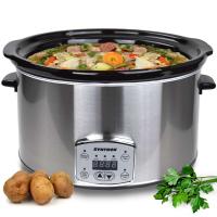 Syntrox Digitaler Slow Cooker 8,0 Liter mit Timer