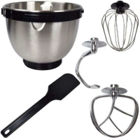 Syntrox Küchenmaschine Knetmaschine Edelstahl-Behälter, 4 Liter, Syntrox Germany silber