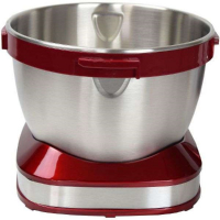 Syntrox Küchenmaschine Knetmaschine Edelstahl-Behälter, 4 Liter, Syntrox Germany rot