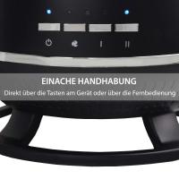 Syntrox Design Keramik-Heizlüfter Standheizer 1800 Watt mit Fernbedienung