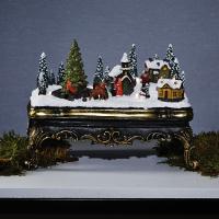 Weihnachtsszene Winterstadt