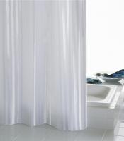 Duschvorhang BATEX STRIPES, textil, 180 x 200 cm, weiß