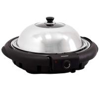 Syntrox Elektrischer Tischgrill und Standgrill Kombination Rundgrill