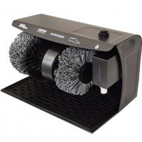 Syntrox Schuhputzmaschine Schuhputzautomat Schuhpoliermaschine mit 3 Bürsten Gummimat