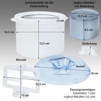Syntrox 4in1 Eismaschine Joghurtbereiter Frozen Jogurt-Milchshake Maschine Flaschenkü