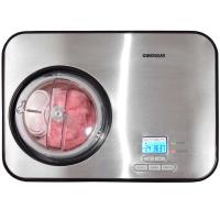 Syntrox Vollautomatische Eismaschine Edelstahl mit Kompressor Softeismaschine