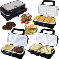 Syntrox Chef Maker 3 in 1 Sandwichmaker Waffelmaker Kontaktgrill mit Keramikbeschicht