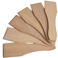 Syntrox Design Universal Holzspatel Racletteschieber Raclettesspachtel Wender 6 Stück