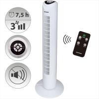 Syntrox Digitaler Turmventilator mit Fernbedienung und Oszillation weiß