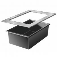 Ubbink QUADRA InoxFrame - Rahmen aus Edelstahl  - 8 cm / 83 x 120 cm