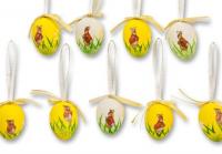 9 tlg. Set Deko Oster-Eier, Ostereier zum Aufhängen