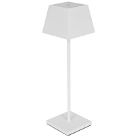Sigor LED-Außentischleuchte NUINDIE für Akku-Betrieb LED, weiß eckig