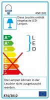 LED-Außentischleuchte NUINDIE weiss eckig